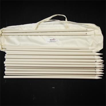 Set of Rigid Poles for Pitch Flags (26) (including bag)