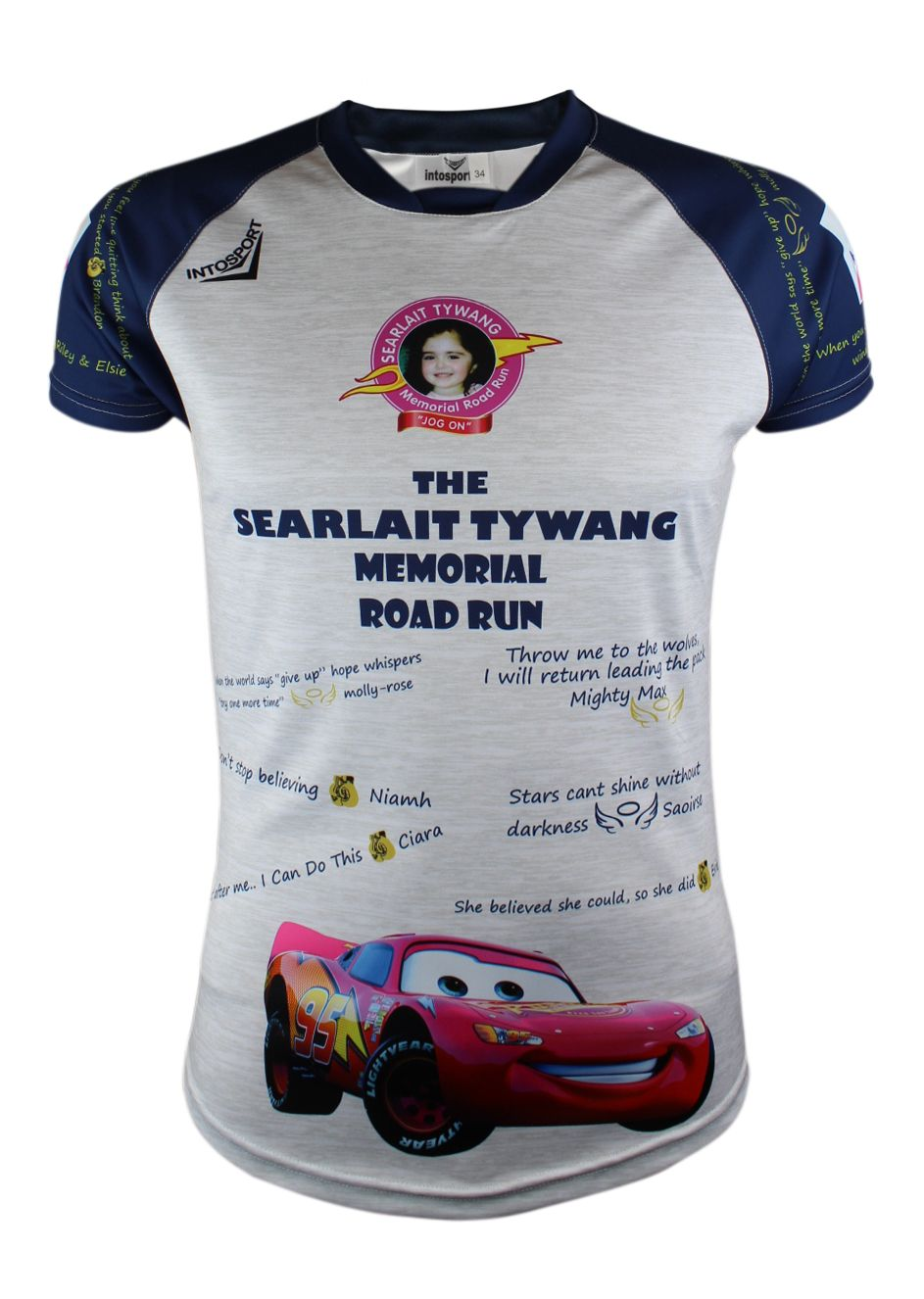 Searlait Tywang Memorial Road Run Training Jersey White/Silve