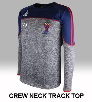 Crew neck track tops