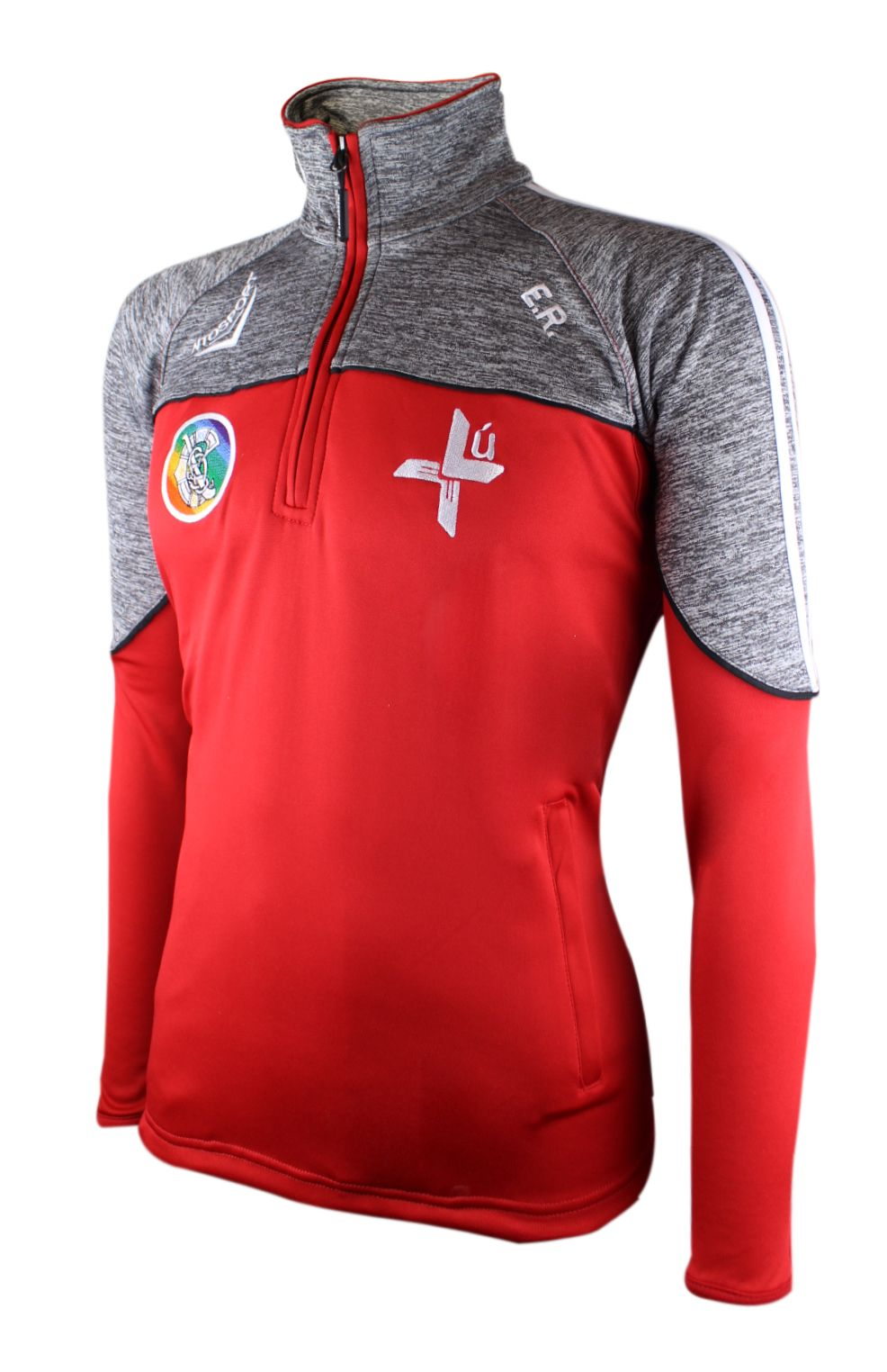 LOUTH HALF ZIP RED