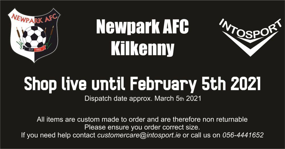 NEWPARK AFC - KILKENNY - ONLINE SHOP STORYBOARD HEADER