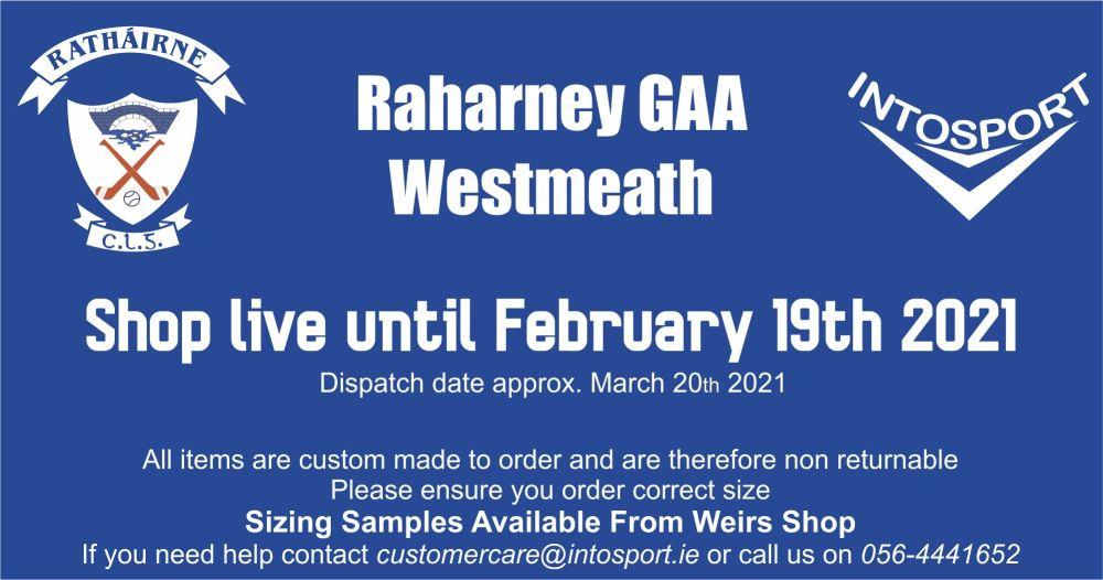 RAHARNEY GAA ONLINE SHOP WEBSITE IMAGES - BANNER