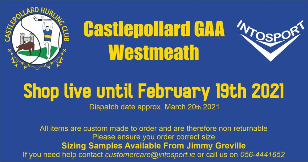 CASTLEPOLLARD GAA - WESTMEATH ONLINE SHOP BANNER