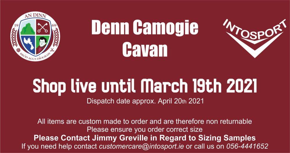 DENN CAMOGIE - CAVAN - ONLINE SHOP STORYBOARD WEBSITE BANNER