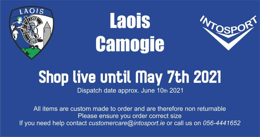 LAOIS CAMOGIE - ONLINE SHOP BANNER