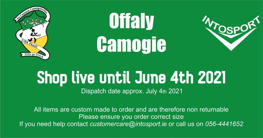 OFFALY CAMOGIE - ONLINE SHOP BANNER