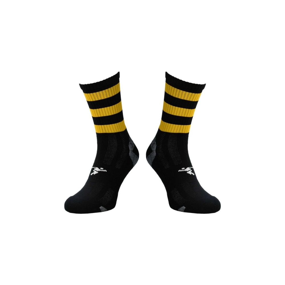 Black / Amber Midi Socks