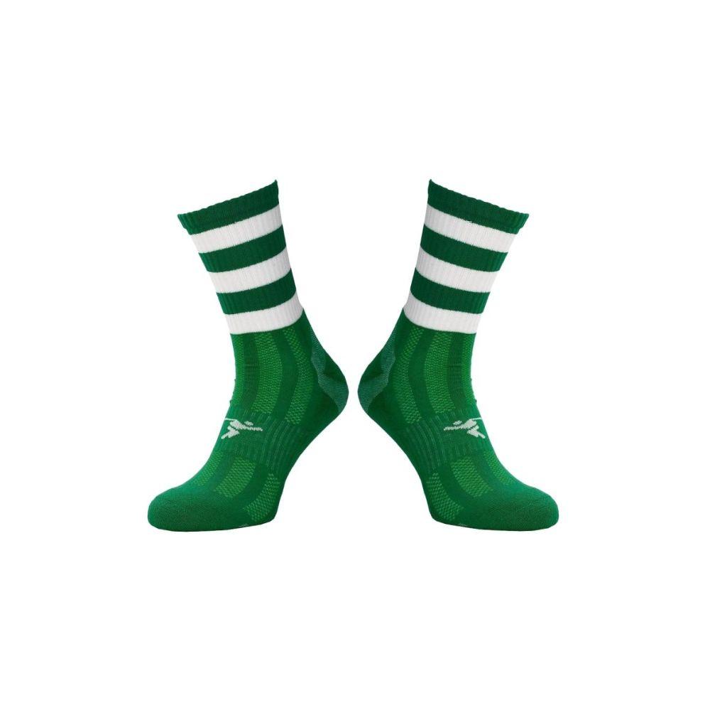 Emerald / White Midi Socks