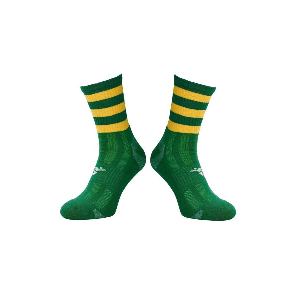 Green / Gold Midi Socks