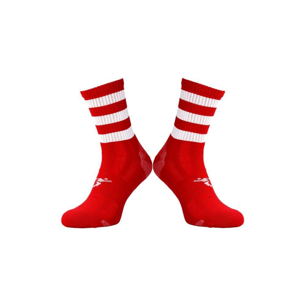 Red / White Midi Socks