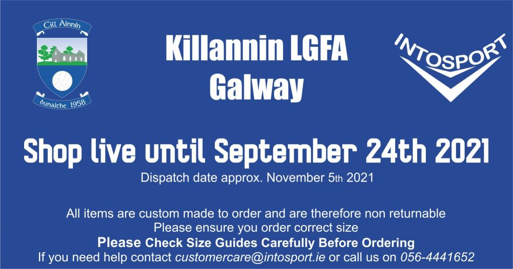KILLANNIN LGFA - GALWAY - ONLINE SHOP BIG BANNER