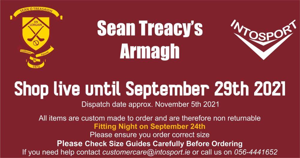 SEAN TRACEYS GAA - ARMAGH - ONLINE SHOP BANNER