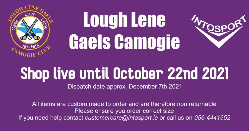 LOUGH LENE GAELS CAMOGIE - ONLINE SHOP BIG BANNER