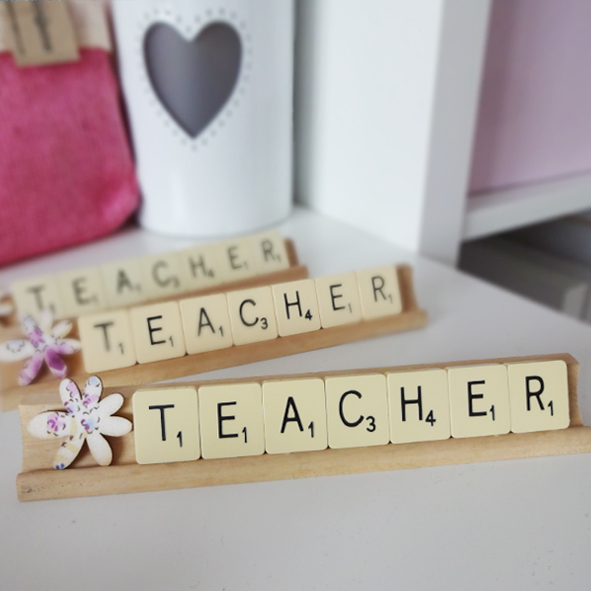 thanks teacher scrabble plaque