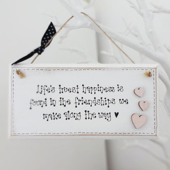 Friendship quote plaque