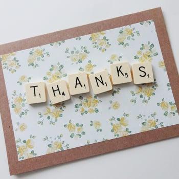 Scrabble Thank You Card