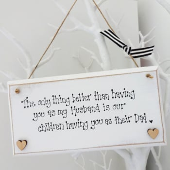 Special husband quote plaque