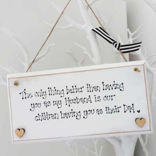 daddy quote plaque