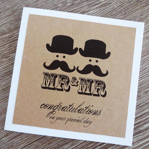 mr & mr wedding card - gay marriage