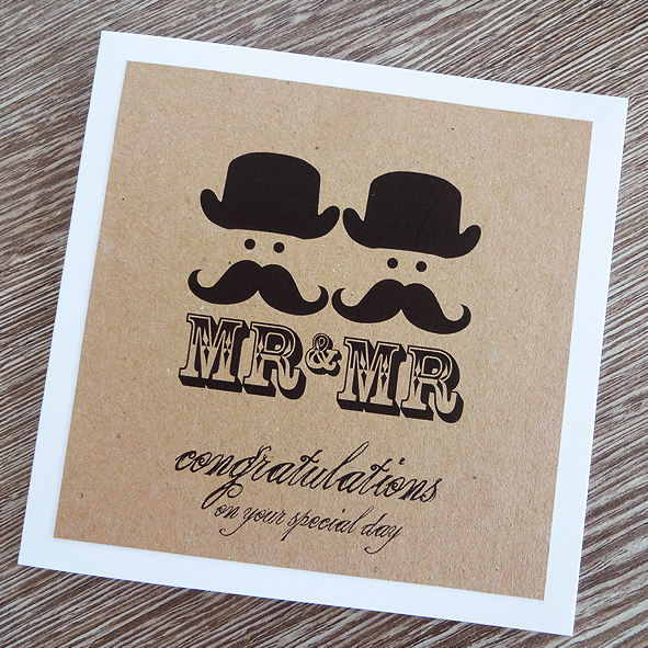 mr & mr wedding card - gay marriage