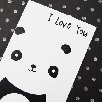Cute Panda Love You Card