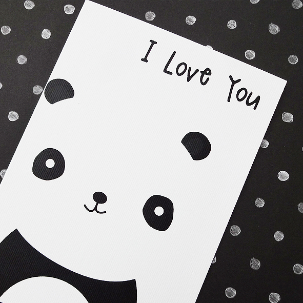 Panda love you card