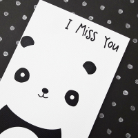 Cute Panda Miss You Card