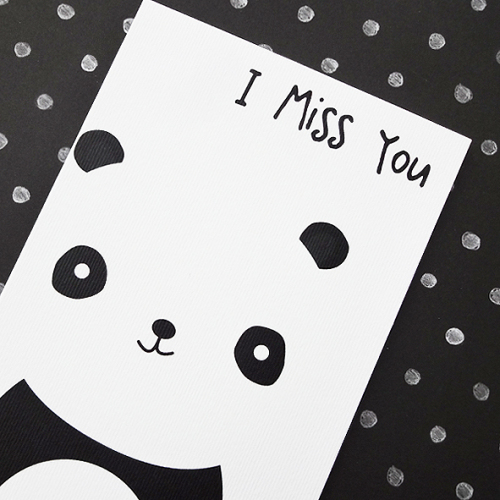 Panda miss you card