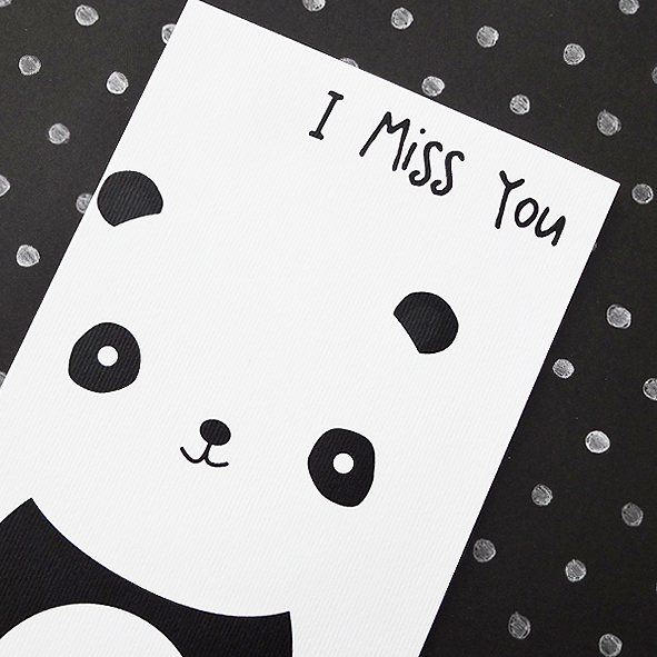 Panda miss you card