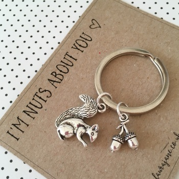 I'm nuts about you keyring