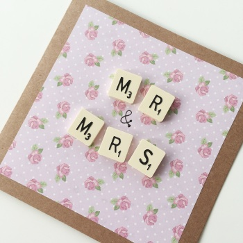 Scrabble wedding card