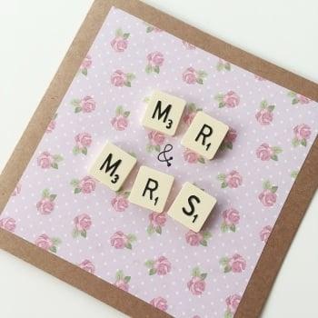 Scrabble Wedding Card