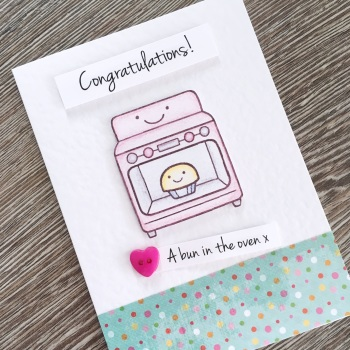 Bun In The Oven Pregnancy Card