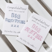 Big sister / big brother cards