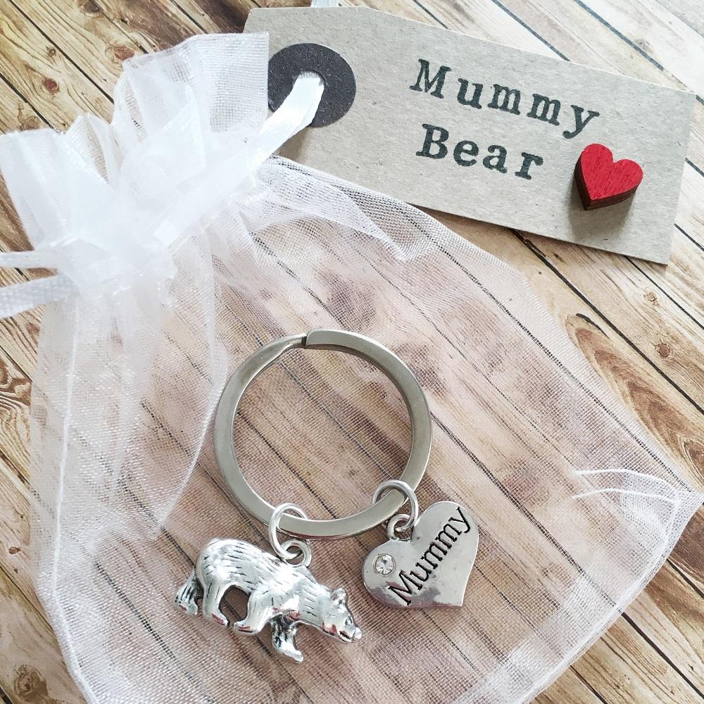 Mummy Bear keyring gift