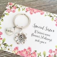 Sister Flower Keyring