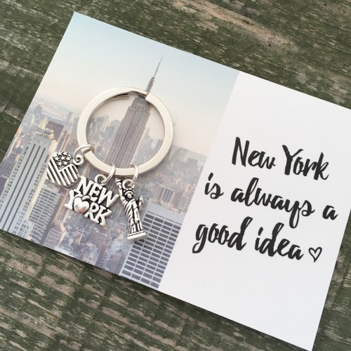 Love New York charm keyring