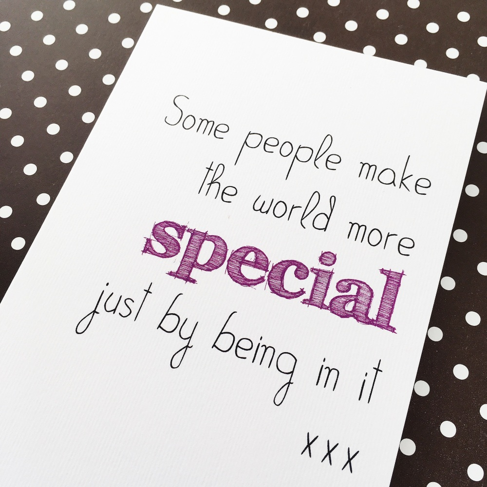 Special friend quote card