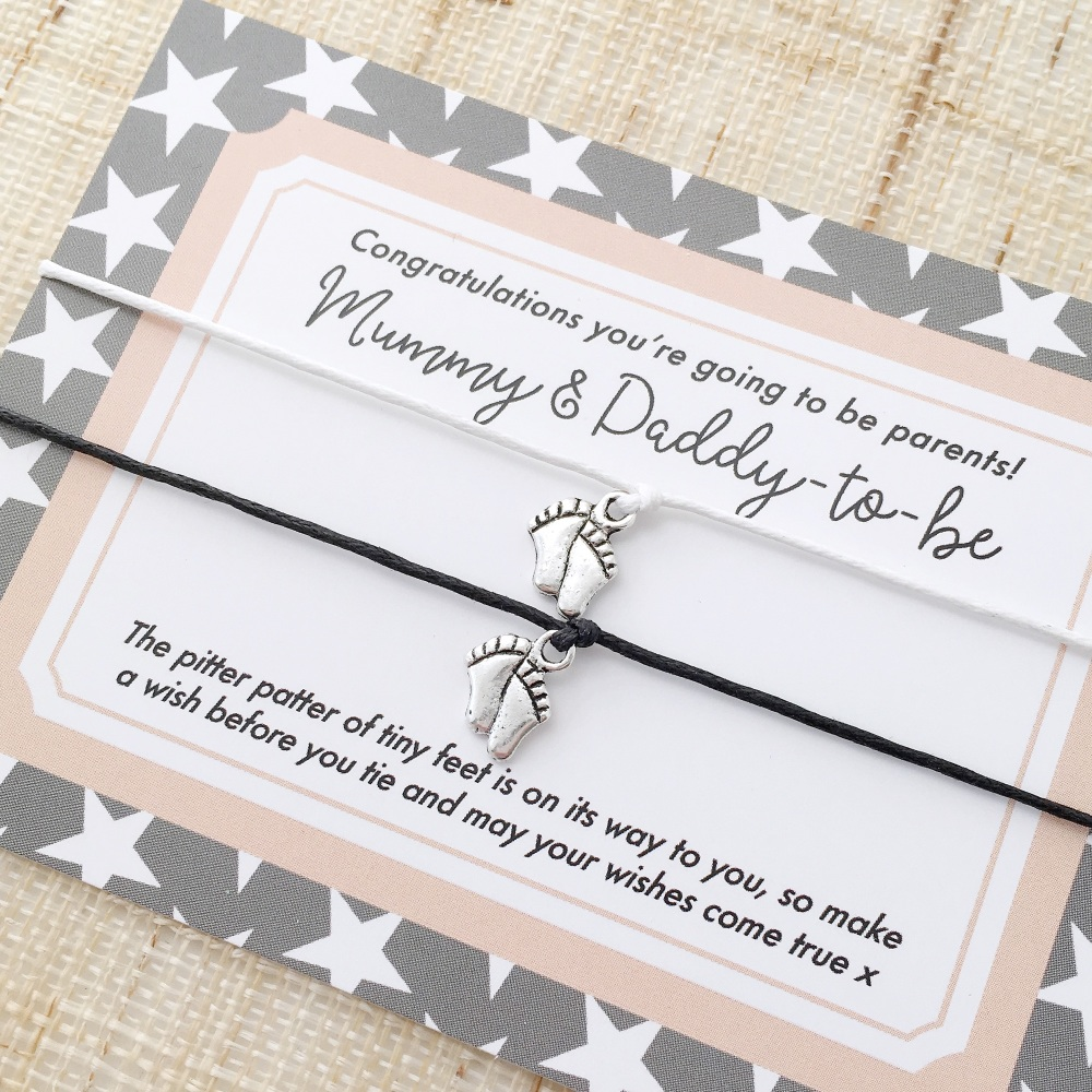 Mum-to-be & dad-to-be bracelets