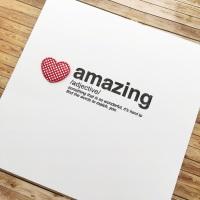 'Amazing' card
