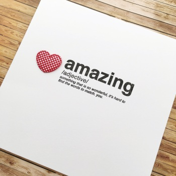 'You're Amazing' card