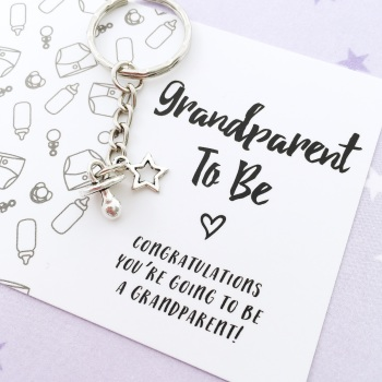 Grandparent-to-be keyring