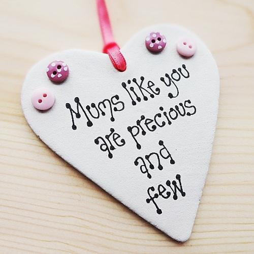 Precious mum quote heart