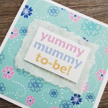Yummy Mummy-to-be floral card