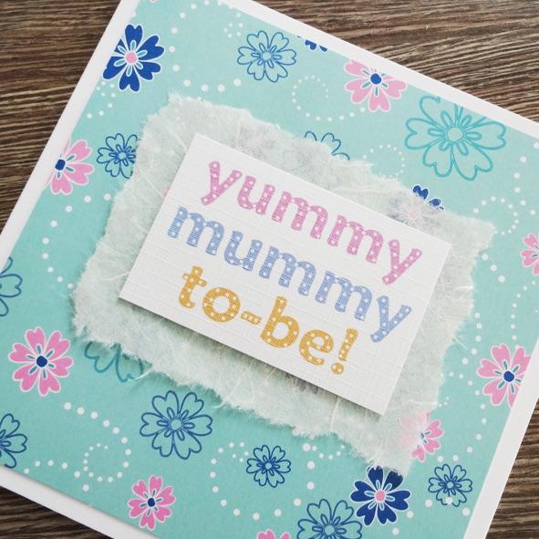 Yummy mummy floral card