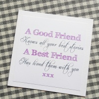 Friendship Best Friend Quote Card