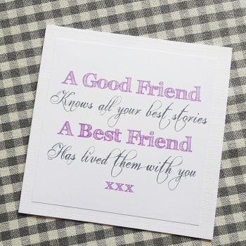 Best friend quote card