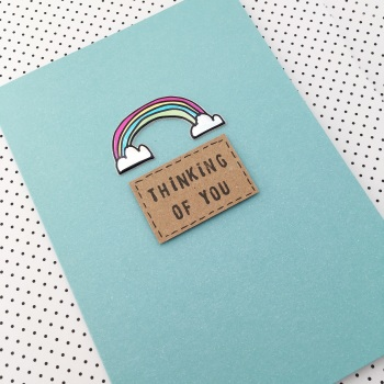 Thinking of you rainbow card