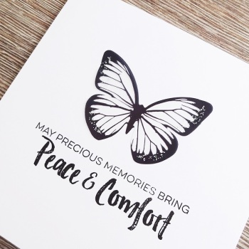Comfort sympathy card
