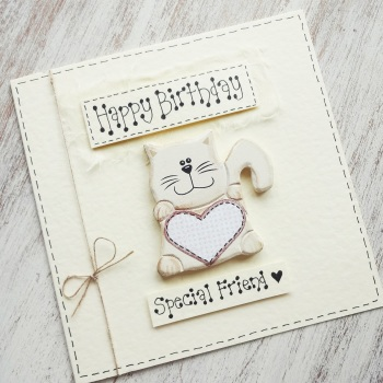 Special friend cat card